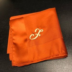VTG Embroidered Initial F Handkerchief - UNISEX